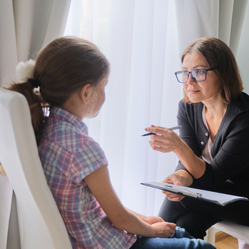 Therapist with Child in Home