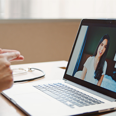 Video Conference on laptop